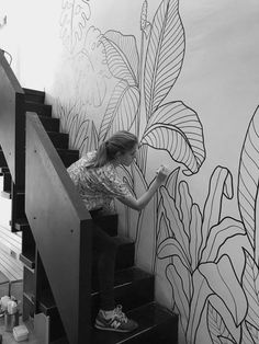 Ideen rund ums Haus Mural Ramona Bakehouse on Behance TV Is A Drug - Are Your Kids Addicted? Wall Painting Decor, Mural Wall Art, Art Decor, Wall Art Designs, Paint Designs, Wall Design, Design Design, Flur Design, Hand Painted Walls