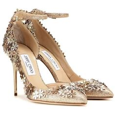 Jimmy Choo Lorelai 100 embellished sandals ❤ liked on Polyvore featuring shoes, sandals, embellished sandals, jimmy choo, jimmy choo shoes, decorating shoes and embellished shoes