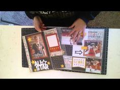 How to use CTMH Flip Flaps on your Scrapbook Layouts - YouTube