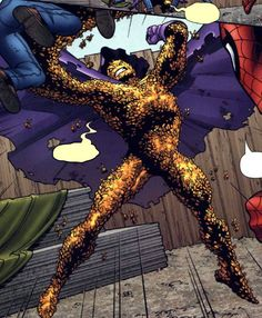 Swarm is a villain, a former Nazi sympathizer, Swarm (real name Fritz von Meyer) is a being made up of thousands of bees; technically, that's all he's made up of, as a swarm of them constantly circle what is left of his human skeleton. Created when his consciousness was absorbed into the hive mind of a mutated colony of bees, Swarm is an intangible being capable of changing his body's shape and size on demand & has also been shown to be able to communicate with other insects in the past.