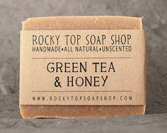 Green Tea & Honey Soap   All Natural Soap by RockyTopSoapShop, $6.50