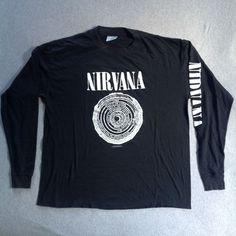 Vintage NIRVANA 1992 T-SHIRT L/S VESTIBULE FUDGE PACKIN KURT COBAIN CREW 90s   Clothing, Shoes & Accessories, Men's Clothing, T-Shirts   eBay!