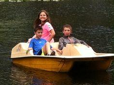 Fun in the paddle boat!!!