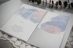 Einladungskarten - Einladung Poketfolder 50 Stk im Watercolor Stil - ein Designerstück von My-Papierliebelei bei DaWanda