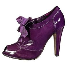 Moschino Purple Patent Oxford Booties