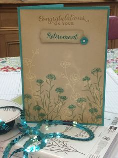 Retierment card, wild about flowers, stampin up crafting, handmade.