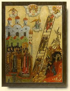 Ladder of Saint John Climacus - exhibited at the Temple Gallery, specialists in Russian icons
