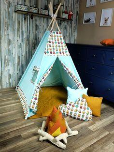 KiziaMizia - BlueKitty Namiot tipi wigwam; Namiot indiański + mata + 3 poduszki - różne warianty, zestawy Hanging Chair, Toddler Bed, Handmade Gifts, Etsy, Vintage, Home Decor, Child Bed, Kid Craft Gifts, Decoration Home