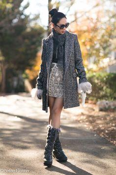 Isabel Marant Etoile Harringbone Coat, Sequin Mini