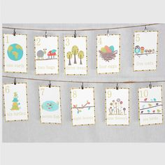 10 Piece Nature Themed Number and Counting Wall Card Set