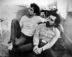 Robert De Niro and Martin Scorsese on the set of Taxi Driver
