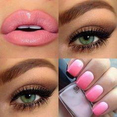 Simple but beautiful! #nails #Nailart #ombrenails #pinknails - bellashoot.com