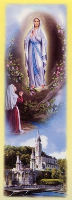 Our Lady of Lourdes Blessed Mother Mary, Blessed Virgin Mary, Catholic Art, Catholic Saints, Mother In Heaven, Juan Pablo Ii, Our Lady Of Lourdes, Mama Mary, Holy Rosary