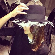 Get it on : https://www.montaignemarket.com/EN_12123_Women-Accessories_Hats_Maison-Michel_Maison-Michel-black-felt-Virginie-hat.html