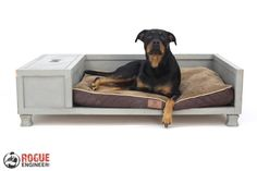 DIY Dog Bed -Free Plans | rogueengineer.com #DogBed #DIYPlans