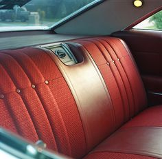 Chevy Impala interior - when car companies cared, even about the back seat of their average car offerings. 66 Impala, Chevrolet Impala, Automotive Upholstery, Car Upholstery, Car Interior Design, Truck Interior, Automobile, Love Car, Car Photos