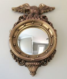 federal eagle convex colonial style accent mirror by syroco interior