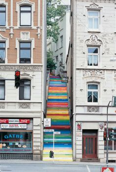 Rainbow Holsteiner stairs in Wuppertal Germany