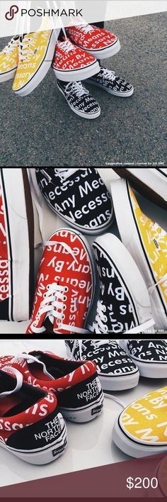 1a1ae5442adf CUSTOM Vans Supreme Era (jacket not included) They are made-to-order