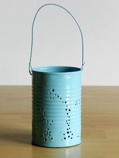 Grow Creative: Tin Can Lanterns Tutorial; so cute for an outdoor wedding!