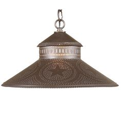 Shopkeeper Shade Pendant Light Star in Blackened Tin-Designed to reflect the welcome of a country store, our Shopkeeper Shade Light is perfect over a small table or used alone or in pairs over a bar or kitchen island.Direct wired with one standard so Country Lamps, Country Chandelier, Country Decor, Primitive Lighting, Primitive Lamps, Honeycomb Shades, Primitive Bathrooms, Direct Lighting, Star Designs