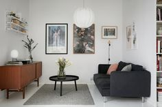 Style and Create — Love the poppy coloured details every here & there in this Stockholm apartment via Fantastic Frank