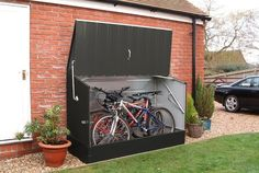 6.5 ft. W x 3 ft. D Metal Horizontal Bike Shed