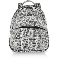 Alexander Wang Dumbo textured-leather backpack (7.054.545 IDR) ❤ liked on Polyvore featuring bags, backpacks, black, zip backpack, daypacks, rucksack bag, shoulder bags and military rucksack