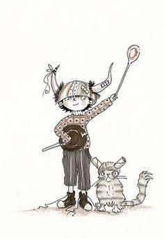 Plum Pudding Illustration Agency - Search - Giuseppe Di Lernia Viking Baby, Boy Cat, Cat Hat, Pet Shop, Tween, Horns, New Books, Vikings, Illustrators