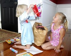 """Happiness Is...: Back to School?  This family has a """"Back to School Fairy"""" that visits their kids at the start of each school year.  The gift bag that appears the day before they return to school helps get them excited for the school year to begin.  Nice idea!"""