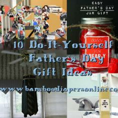 Father's Day DIY Ideas!  www.bamboodiapersonline.com