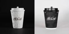McCafe coffee cups on Behance Black Coffee Mug, Coffee Cups, Mccafe Coffee, Food Design, Coffee Shop, Packaging Design, Art Direction, Graphic Design, Adobe Illustrator