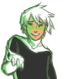 Danny blushing green is super adorable! Randy Cunningham, Ghost Boy, The Other Guys, Phantom 3, Old Shows, Inspirational Artwork, Cartoon Games, Stuff And Thangs, Cool Drawings