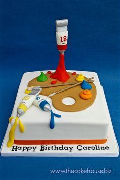 Artist Palette Birthday Cake