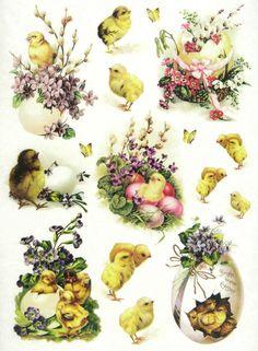 Ricepaper/Decoupage paper, Scrapbooking Sheets Vintage Bright Easter in Crafts, Cardmaking & Scrapbooking, Decoupage   eBay