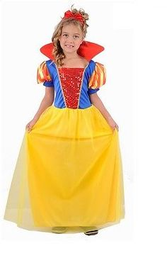 #Girls child kids snow white fancy #dress costume fairy princess #outfit #dress-up,  View more on the LINK: 	http://www.zeppy.io/product/gb/2/111303895500/