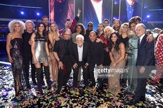Honoree Barry Gibb of the Bee Gees onstage with the finale performers during 'Stayin' Alive: A GRAMMY Salute To The Music Of The Bee Gees' on February 14, 2017 in Los Angeles, California.