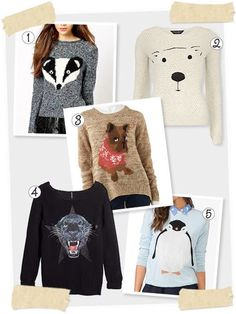 Feeling the love for polar bears today? What about bulldogs? Penguins, perhaps? You're in luck because animal face sweaters are seriously everywhere. #DressforLess #FIDMfashionclub
