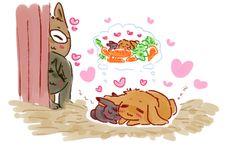 The bunbuns like as baby bunnies.  Even then they were already married and soulmates ...   Drawn by racyue ... Free! - Iwatobi Swim Club, free!, iwatobi, makobun, bunny, rabbit, harubun, haruka nanase, haru nanase, haru, nanase, haruka, makoto, tachibana, makoto tachibana