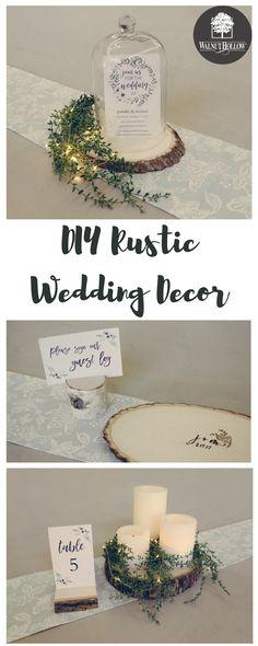 DIY Rustic Wedding Decor by Walnut Hollow