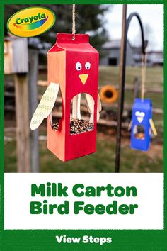 Use Crayola Markers to make these DIY marker and permanent marker crafts. Be inspired by our marker art ideas & browse all of the marker projects today! Summer Crafts, Diy Crafts For Kids, Projects For Kids, Kids Crafts, Garden Projects, Bird Feeder Craft, Birdhouse Craft, Bird Feeders For Kids To Make, Milk Carton Crafts