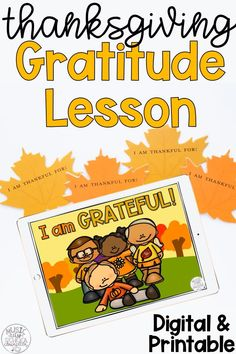 Thanksgiving Gratitude Activities for Kids, Gobble Grams Kindness Notes, Digital & Printable