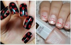 20 Μοναδικά nail art για του Αγίου Βαλεντίνου! | ediva.gr Nail Polish, Velvet, Nail Art, Nails, Beauty, Finger Nails, Ongles, Nail Arts, Nail