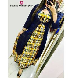KKC Cotton Printed Selfie Kurti #Kurti Kurti Neck Designs, Salwar Designs, Blouse Designs, Dress Designs, Trendy Kurti, Kurti Collection, Blouse Styles, Kurti Styles, Indian Designer Wear