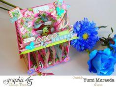 Botanical Tea Bird House mini mini Album