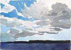 2020 Aug 31 Cloud line over Georgian Bay; shop link in bio, $100USD Watercolor Sky, Watercolour Paintings, Georgian, Clouds, Google Search, Link, Watercolor Paintings, Water Colors, Georgian Language
