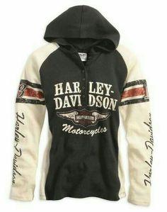 Harley-Davidson Military 1 Side Mens Grey//Navy 3-Button Henley Raglan Shirt Kandahar Air Base