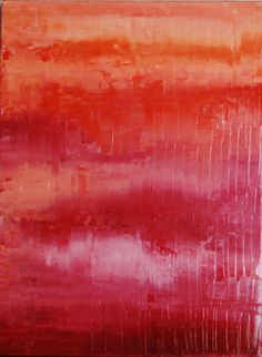 Abstract Art. Coral, Pink, Red, Orange Art Abstract Original Painting - 12x16 Oil, Symetrical, Sleek, Original Modern Art for your home.. $80.00, via Etsy.