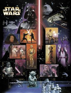 Star Wars USPS stamp set, commemorating the 30th anniversary of the theatrical release of Episode IV: A New Hope.