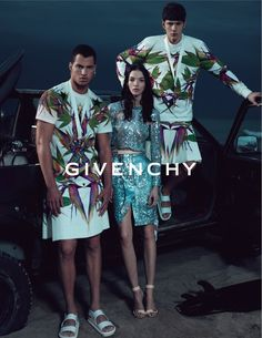 Even Givenchy's money shouldn't be able to afford to pay a man to look this ridiculous! Horrible!
